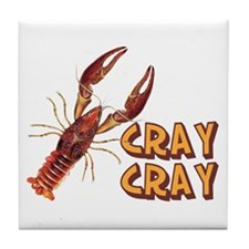 Cray Cray Crazy Crayfish Tile Coaster