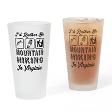 Id Rather Be Mountain Hiking Virgin Drinking Glass