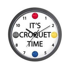 It's Croquet Time Wall Clock
