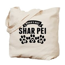 Worlds Best Shar Pei Mom Tote Bag