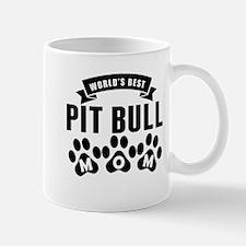 Worlds Best Pit Bull Mom Mugs