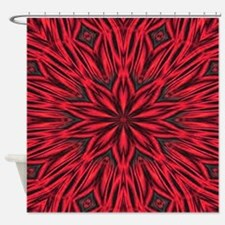 Red Tiger Stripes Shower Curtain