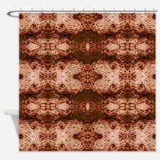 Puce Lace Shower Curtain
