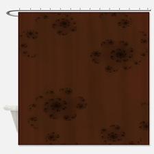 Brown Swirl Shower Curtain