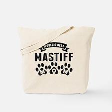 Worlds Best Mastiff Mom Tote Bag