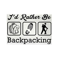 I'd Rather Be Backpacking Rectangle Magnet