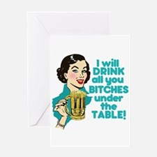 Funny Beer Drinking Humor Greeting Cards