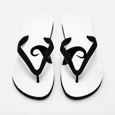 moustache 3 Flip Flops