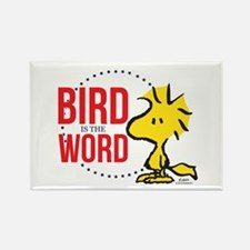 Bird is the Word Rectangle Magnet
