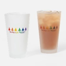 Gay Holiday Drinking Glass