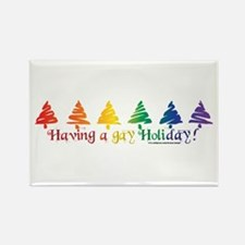 Gay Holiday Rectangle Magnet