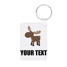Cartoon Moose Personalize It! Keychains