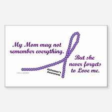 Never Forgets To Love (Mom) Rectangle Decal