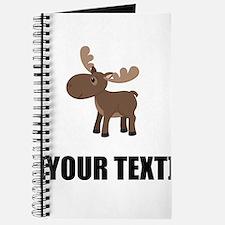 Cartoon Moose Personalize It! Journal