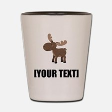 Cartoon Moose Personalize It! Shot Glass