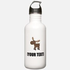 Cartoon Moose Personalize It! Water Bottle