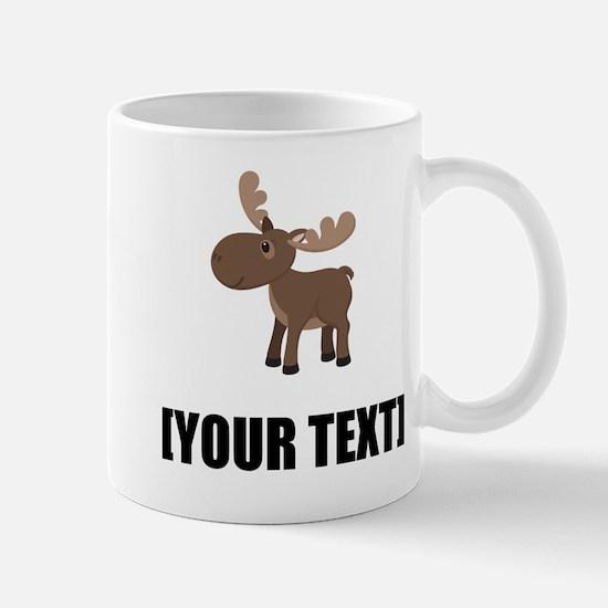 Cartoon Moose Personalize It! Mugs