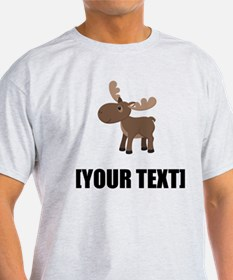 Cartoon Moose Personalize It! T-Shirt