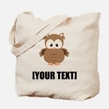 Cartoon Owl Personalize It! Tote Bag