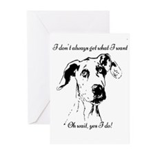 Fun Great Dane Dog Quote Greeting Cards