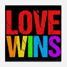 Love Wins Tile Coaster