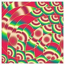 Abstract circular gradients Poster