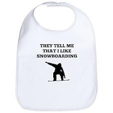 They Tell Me That I Like Snowboarding Bib