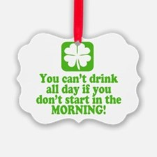 Saint Patrick's Day Green Beer Dr Ornament
