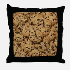 Chocolate Chop Cookie Pattern Throw Pillow
