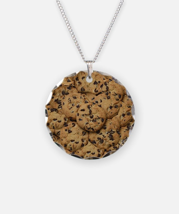 Chocolate Chop Cookie Patter Necklace