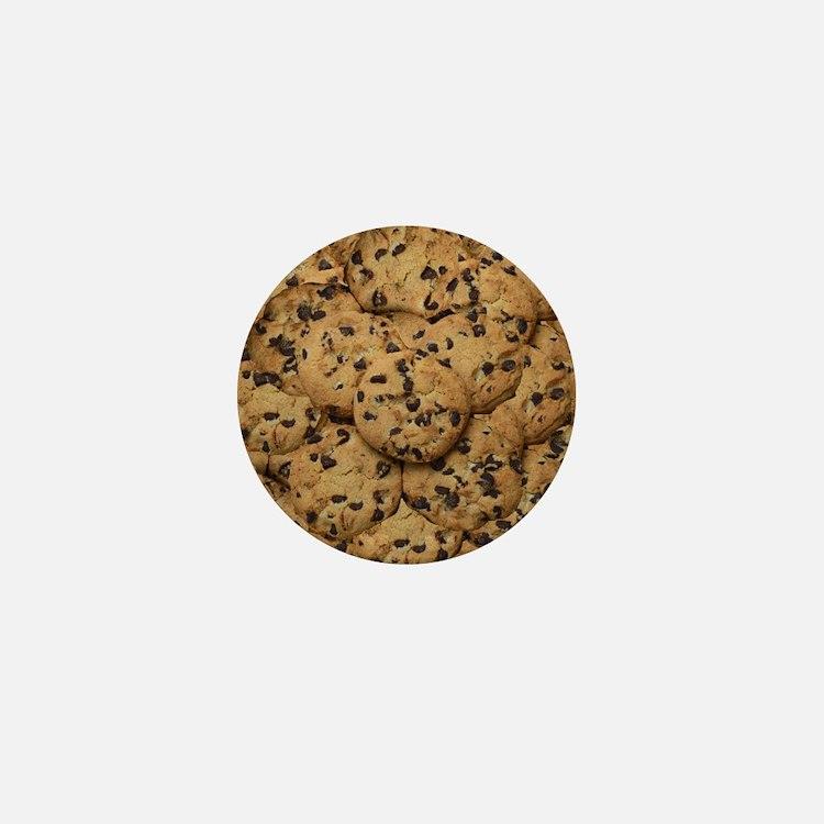 Chocolate Chop Cookie Pattern Mini Button