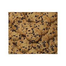 Chocolate Chop Cookie Pattern Throw Blanket