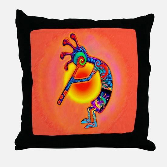 Lizard Kokopelli Sun Throw Pillow