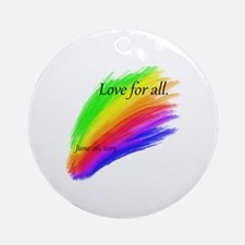 Gay Marriage Round Ornament