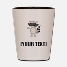 Cartoon Raccoon Waving Personalize It! Shot Glass