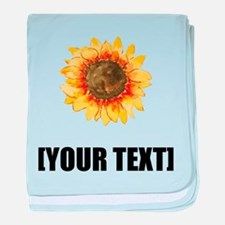 Sunflower Personalize It! baby blanket