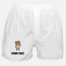 Teddy Bear Waving Personalize It! Boxer Shorts