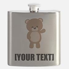 Teddy Bear Waving Personalize It! Flask