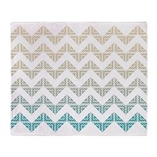 Sea Shore Hmong Tribal Chevron Throw Blanket