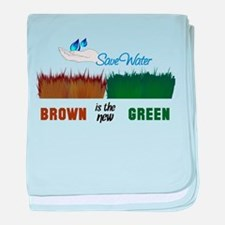 Brown is the New Green baby blanket