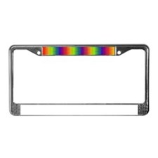 Wild Zany Rainbow Menagerie fo License Plate Frame