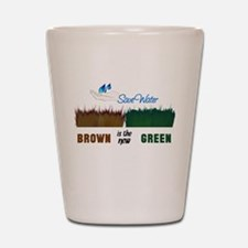 Brown is the New Green Shot Glass