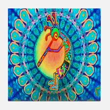 Kokopelli Rabbit Tile Coaster