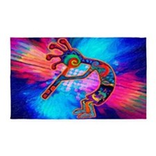 Rainbow Kokopelli 2 Area Rug