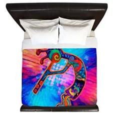 Rainbow Kokopelli 2 King Duvet