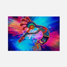 Rainbow Kokopelli 2 Rectangle Magnet