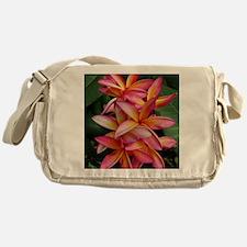 Hawaiian Plumeria Messenger Bag