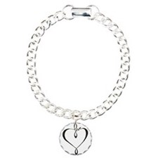 Love heart Charm Bracelet, One Charm