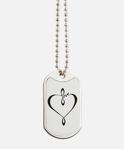 Love heart Dog Tags