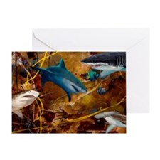 Sharks Card Greeting Cards